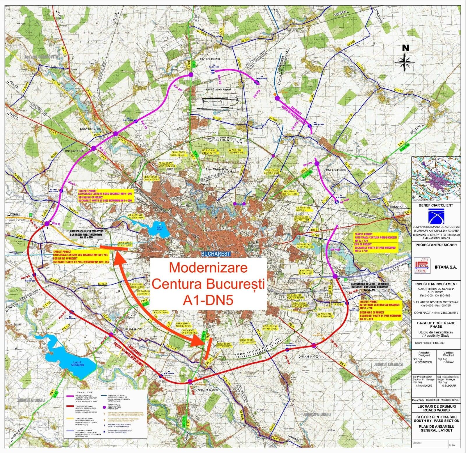 Centura Capitalei se lărgește la patru benzi între A1 și DN5. Șase oferte depuse pentru un proiect de 800 de milioane de lei