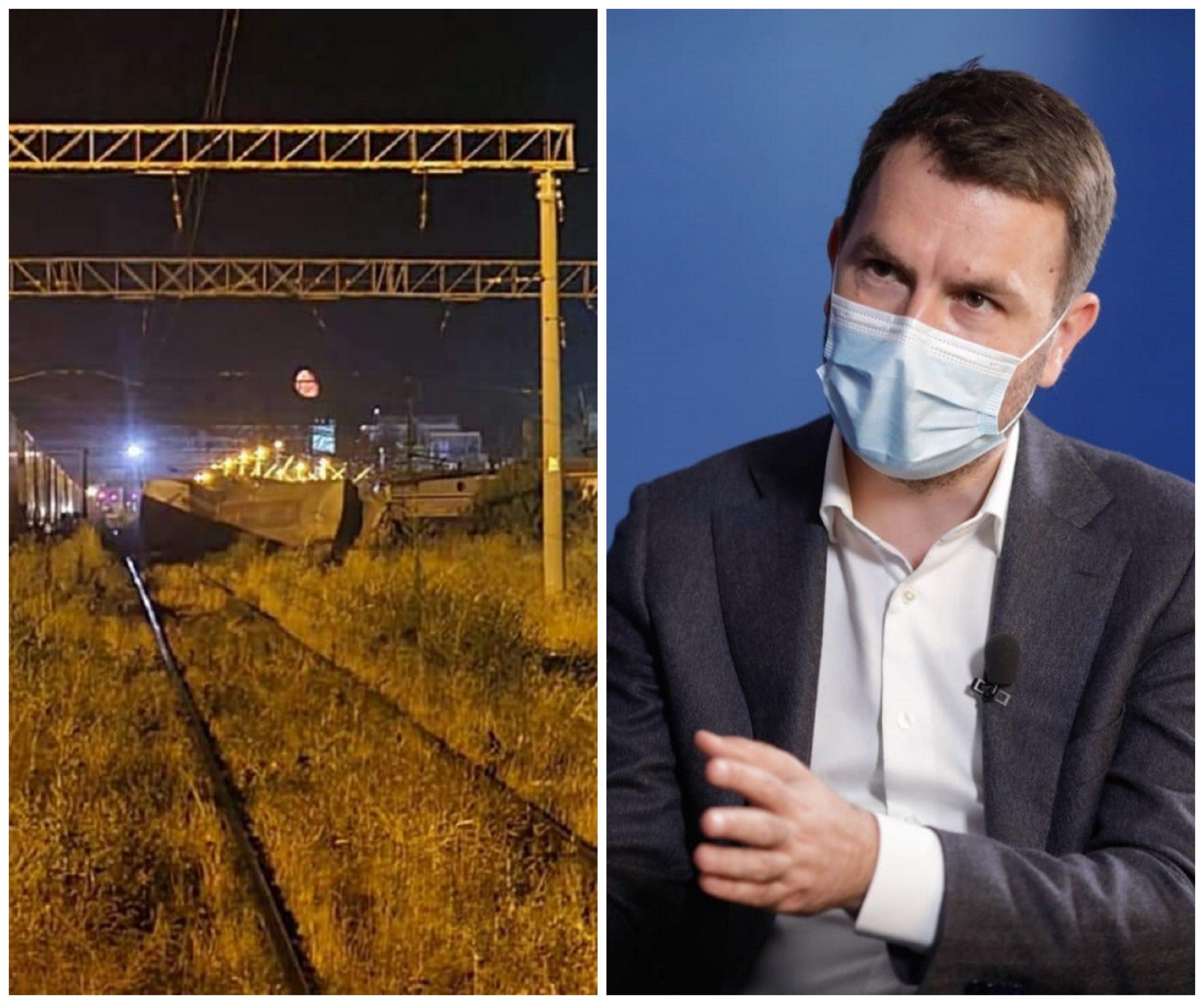 Accidentul feroviar de la Fetești. Mecanicul trenului era băut și a adormit, spune ministrul Transporturilor