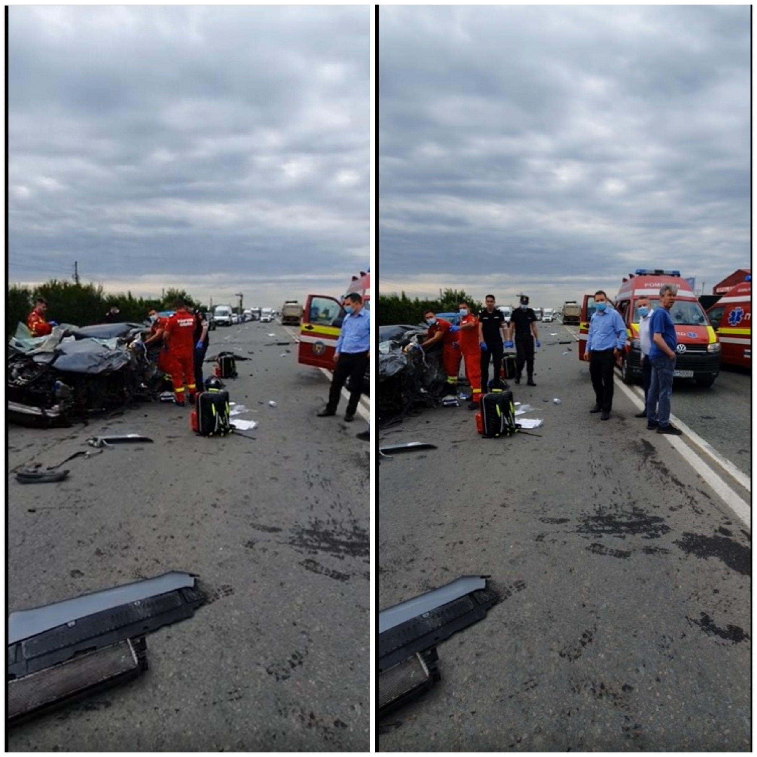 Accident grav pe Centura Capitalei. Un elicopter transportă victima la spital