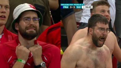 Photo of De la agonie la extaz în câteva minute. Cine este suporterul elvețian devenit celebru la meciul EURO din București