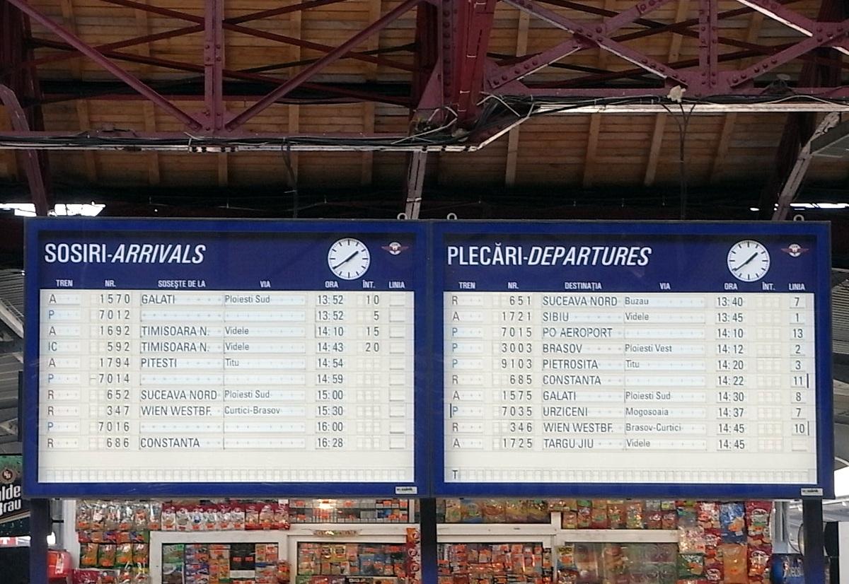 Ziua și gafa în Gara de Nord. Un tren a plecat gol, după ce pasagerii au fost îndrumați spre altă linie din greșeală