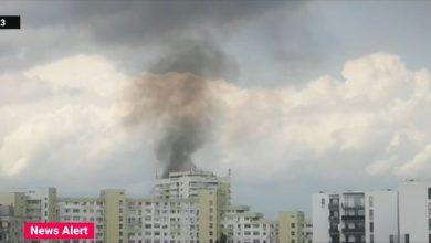Photo of Incendiu puternic în Piața Delfinului din București. Intervin 14 autospeciale