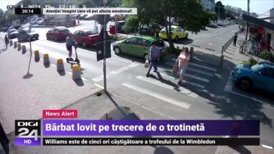 Photo of Bărbat lovit pe trecerea de pietoni de o trotinetă electrică în București. Crește numărul acestor incidente în Capitală | VIDEO