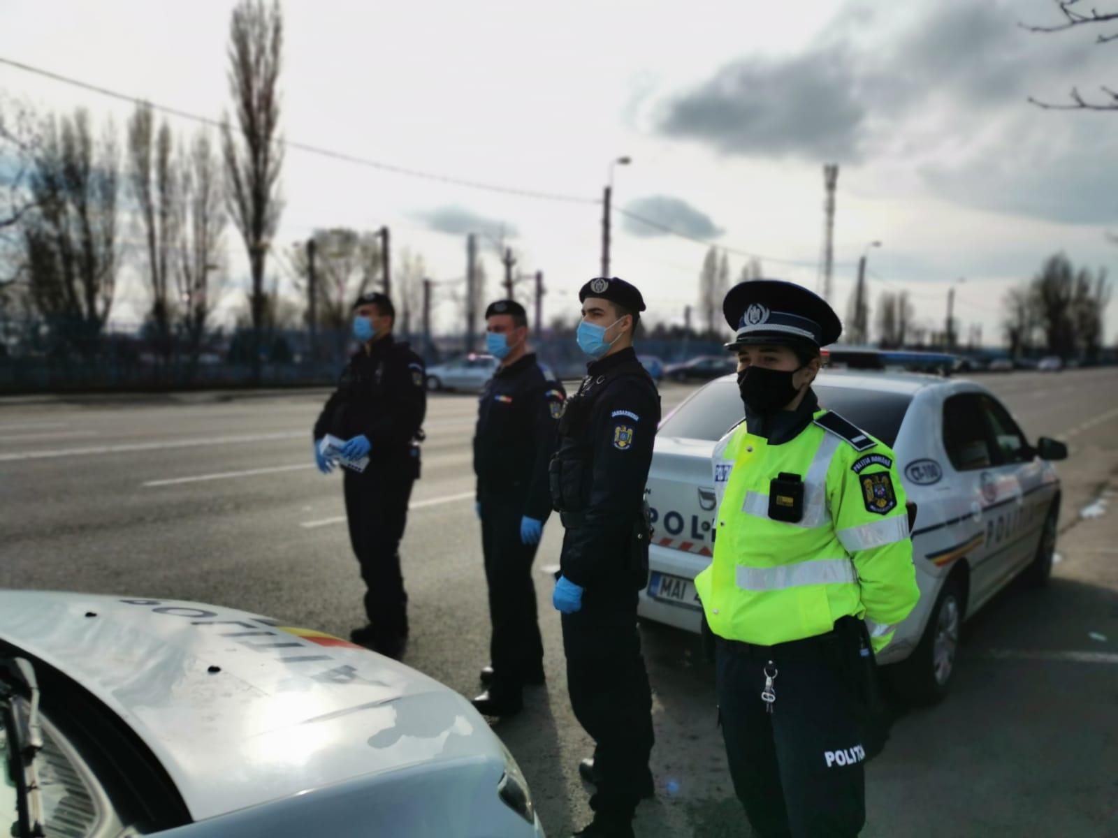 Razie de amploare realizată în București. Peste 100 de șoferi au fost amendați