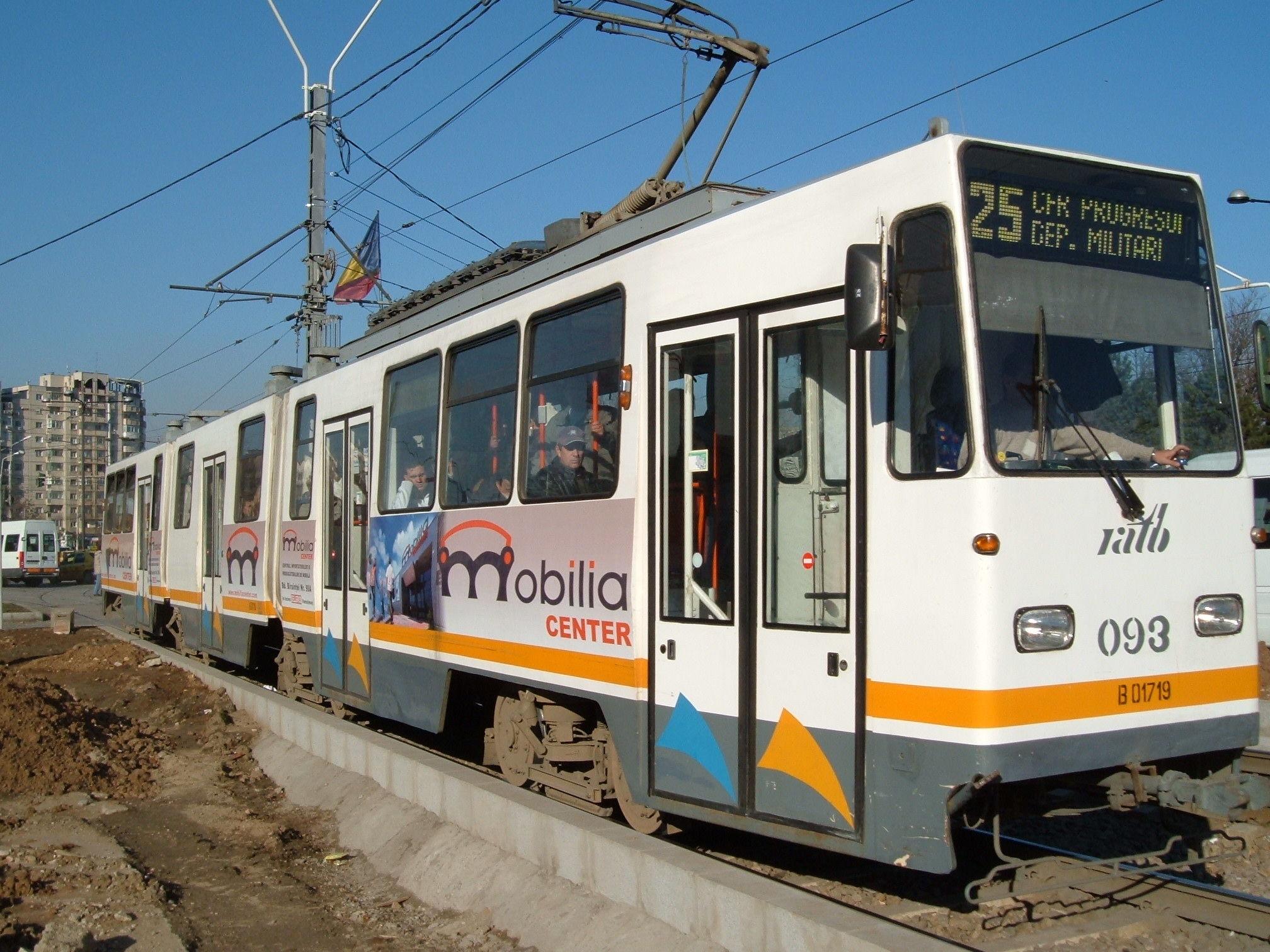 Tramvaie blocate pe șine în București. Circulația urmează să fie reluată în cel mai scurt timp posibil