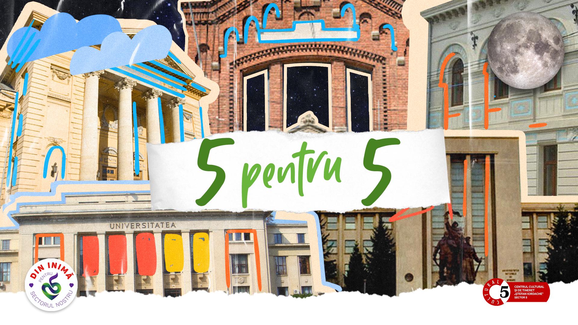 """Proiectul """"5 pentru 5"""". Vreme de 5 nopți, 5 clădiri de patrimoniu din București vor fi luminate ca ziua, ca să nu mai trecem pe lângă ele fără să le băgăm de seamă"""