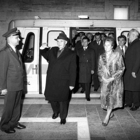 ceausescu, si, elena, metrou, inaugurare