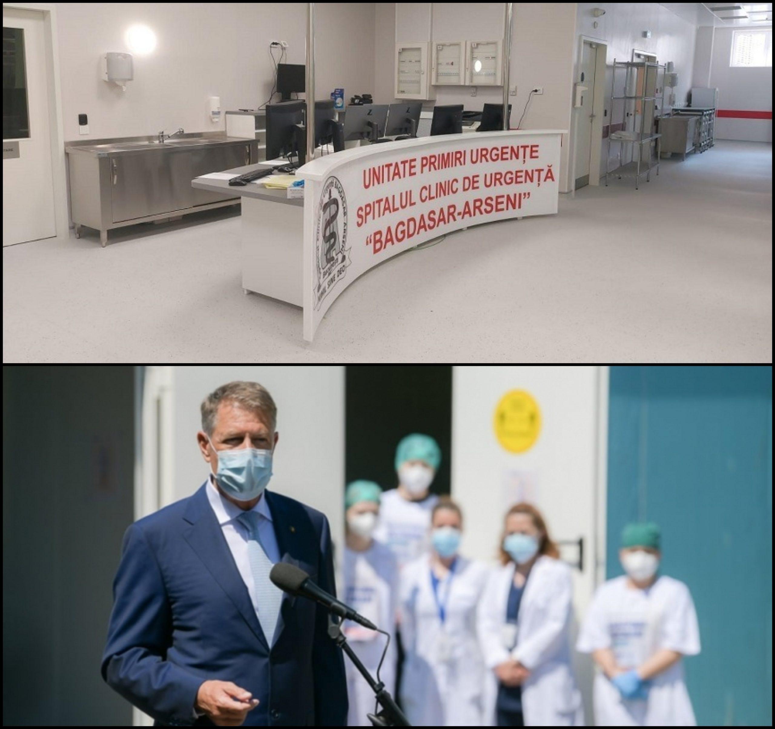 Noua unitate de primiri urgenţe a Spitalului Bagdasar Arseni stă sub lacăt de luni de zile. E gata din mai și bifată deja de vizita lui Iohannis. Ce-i lipsește