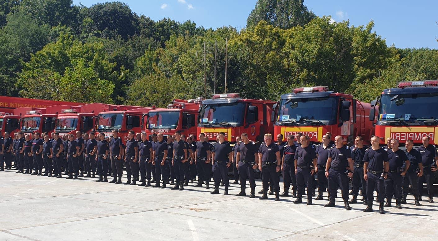 Pompierii români pleacă din nou în Grecia. 142 de salvatori vor ajuta la stingerea incendiilor