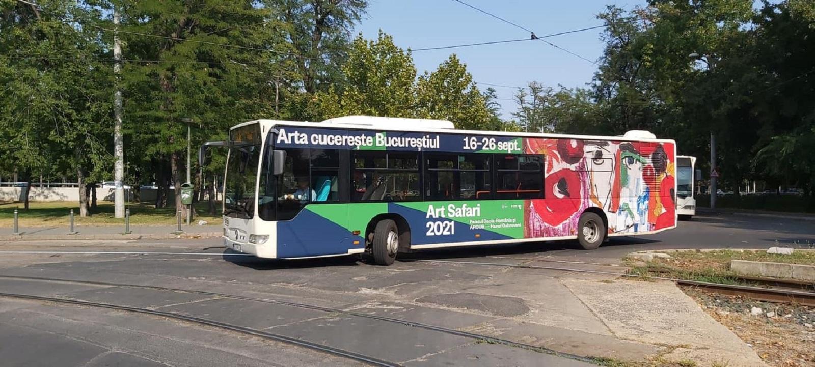 Muzeul în Mișcare prezent pe 10 linii de autobuze STB. Art Safari se plimbă prin Capitală