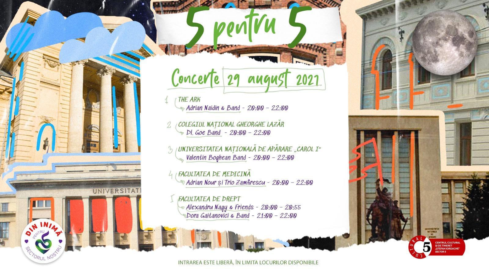 """Continuă proiectul """"5 pentru 5"""". Ce artiști vor cânta în ultima zi a evenimentului care evidențiază clădirile de patrimoniu din București (P)"""