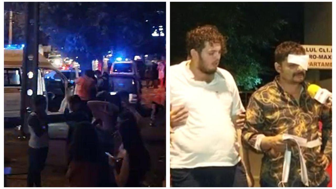 Scandal azi-noapte în Ferentari. Bătaie cu zeci de oameni și mașini distruse. Vreo 18 persoane au fost duse la audieri după intervenția jandarmilor