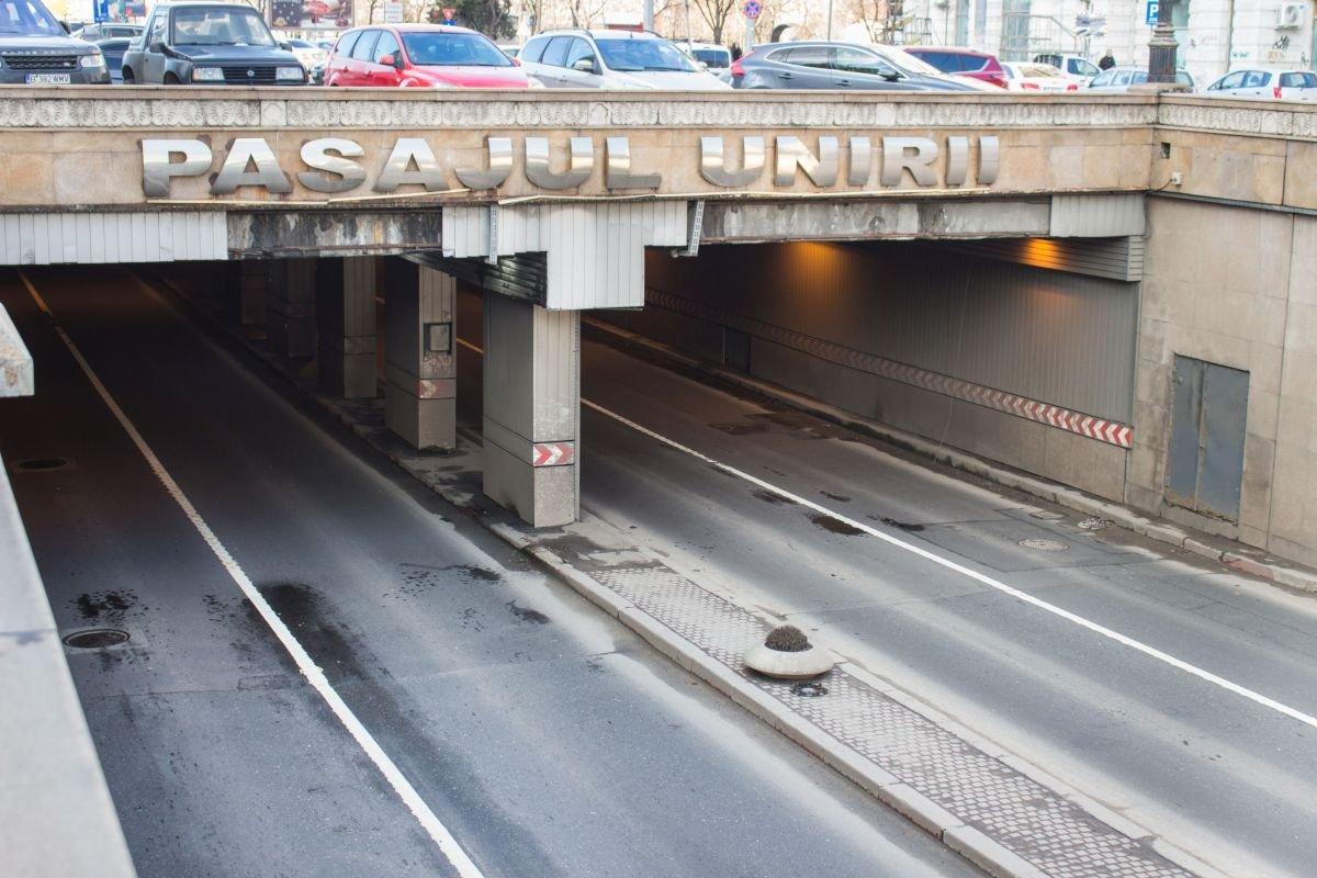 Pasajul Unirii din București se închide pentru lucrări. Un sens de circulație va fi închis timp de trei săptămâni pentru lucrări la rețeaua de gaze