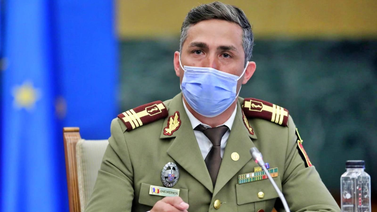 Valeriu Gheorghiță: 90% dintre infectările COVID testate genetic în ultima săptămână au fost infectări cu varianta Delta