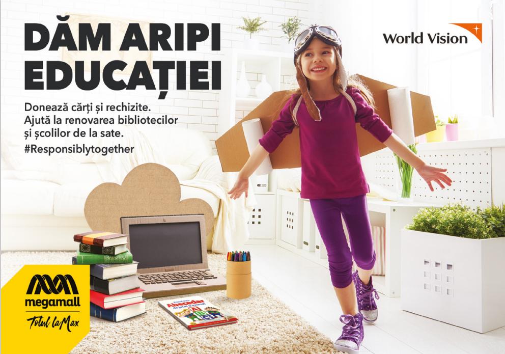 Campania Empty Classroom, într-un mall din București. Copiii din comunitățile vulnerabile au nevoie de rechizite și cărți noi