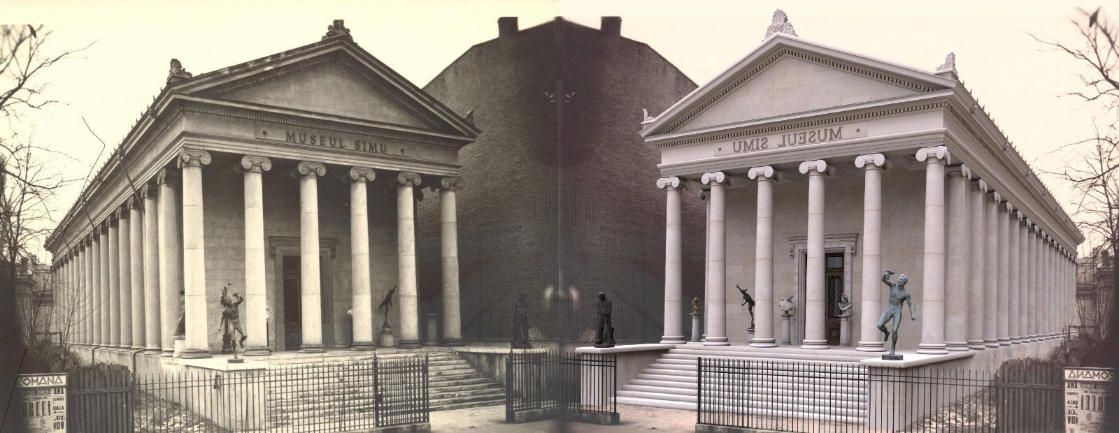muzeul, simu, bucuresti, templu, grecesc