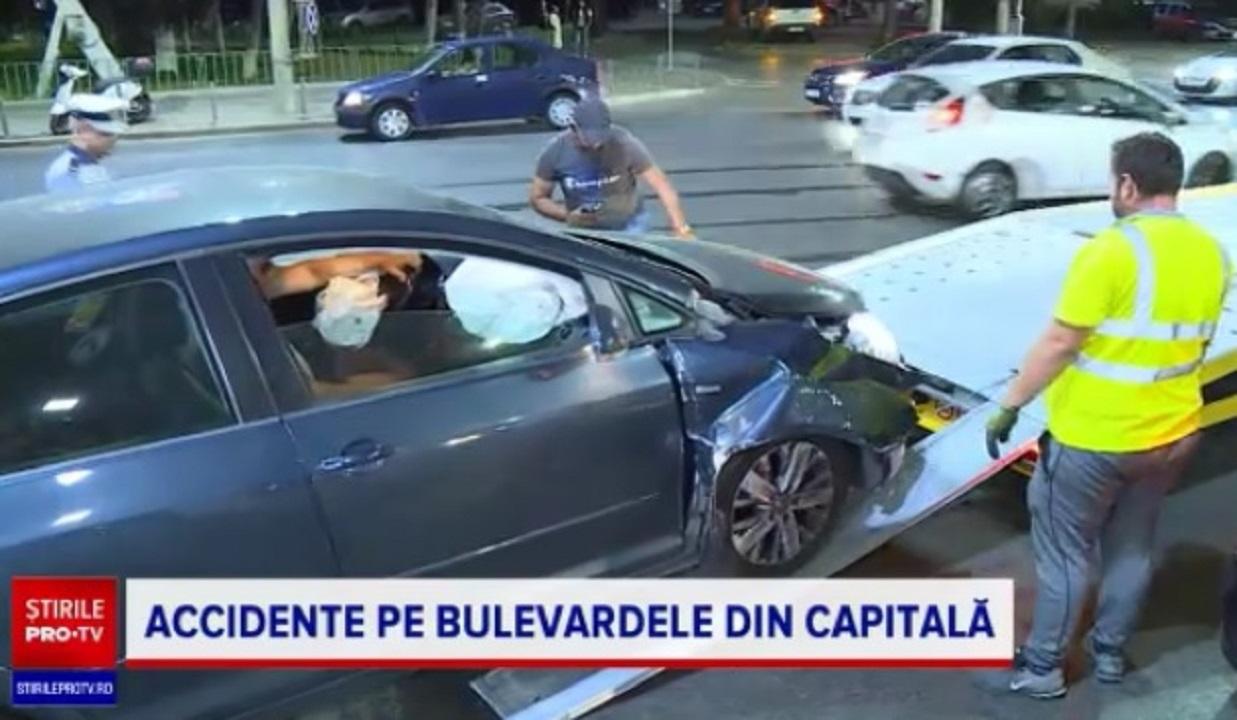 Noaptea accidentelor în București pe bulevardele centrale Unirii, Decebal și șoseaua Pantelimon