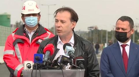 VIDEO Șoferii l-au claxonat pe premierul Florin Cîțu pe Șoseaua de centură și i-au bruiat declarațiile de la inaugurarea Pasajului Mogoșoaia