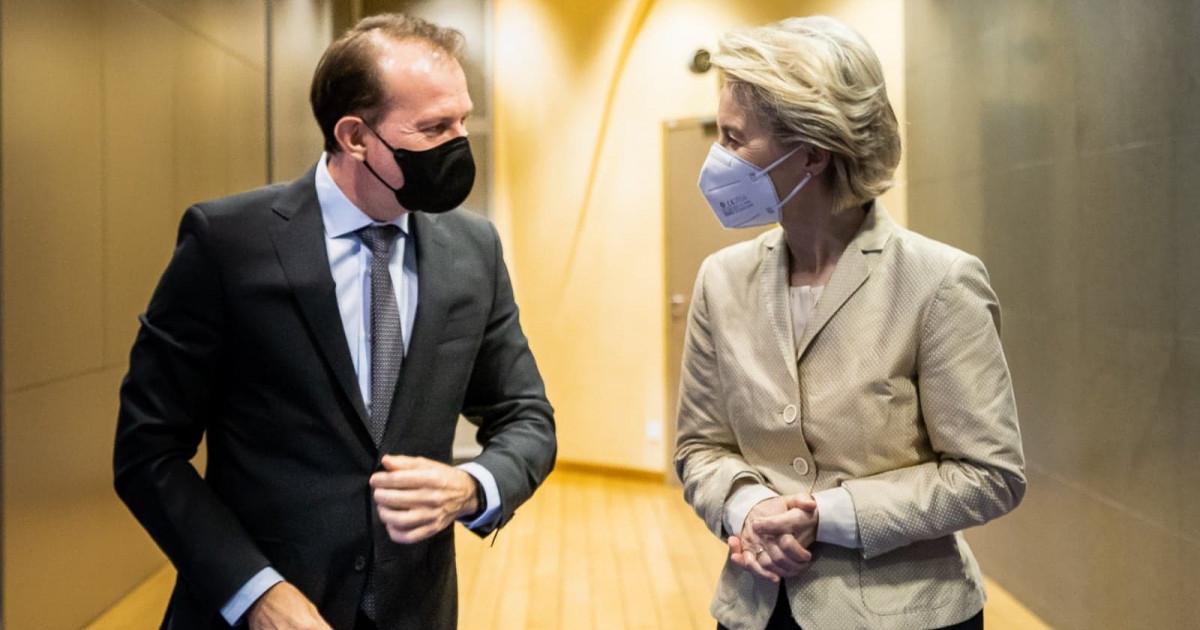 Ursula von der Leyen, vizită la București. Președintele CE, întâlnire cu Cîțu și Iohannis privind aprobarea PNRR