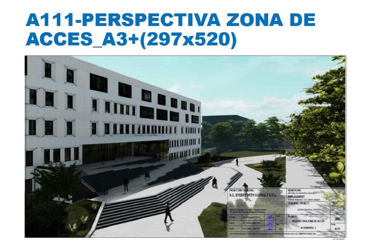 Ciucu a prezentat proiectul spitalului ce urmează să fie construit în S6. Bugetul estimat este de 339 milioane de lei