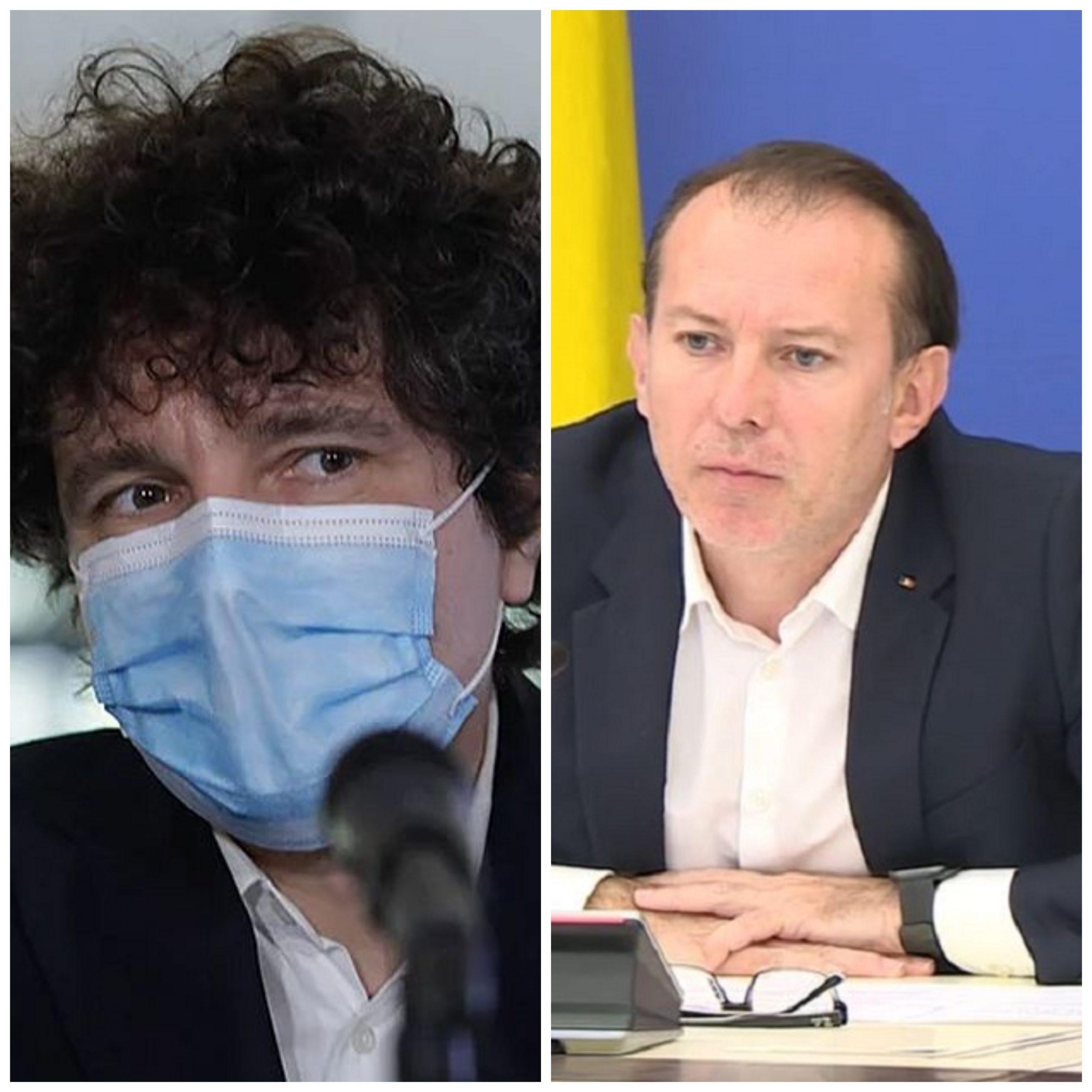 Florin Cîțu e supărat pe Nicușor Dan. Premierul vrea să știe care e implicarea spitalelor subordonate Primăriei în combaterea pandemiei de COVID