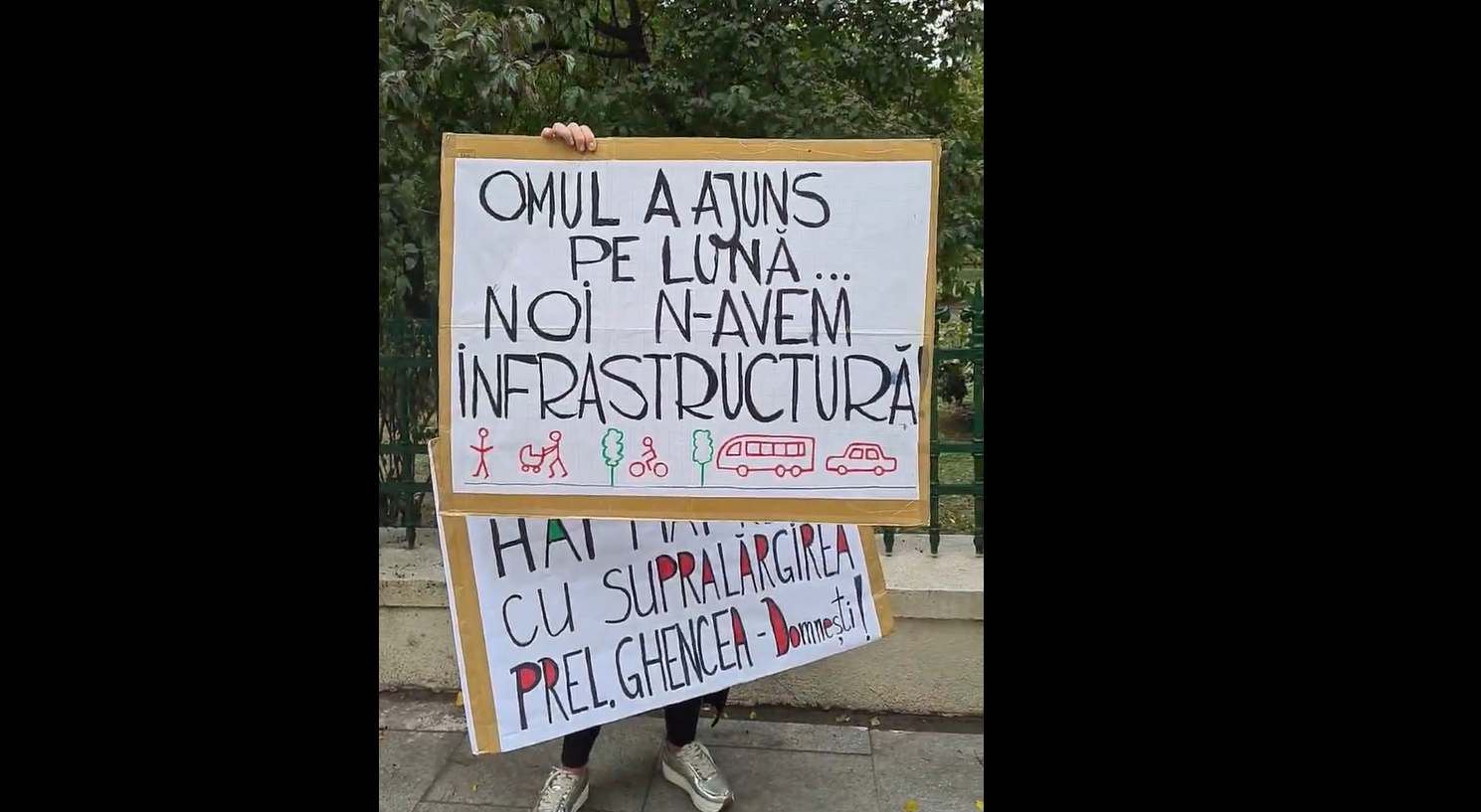 """Nicușor Dan promite că """"lucrările vor începe în forţă"""" la șantierul din Prelungirea Ghencea. Locuitorii din zonă nu îl cred și protestează în fața Primăriei   VIDEO"""