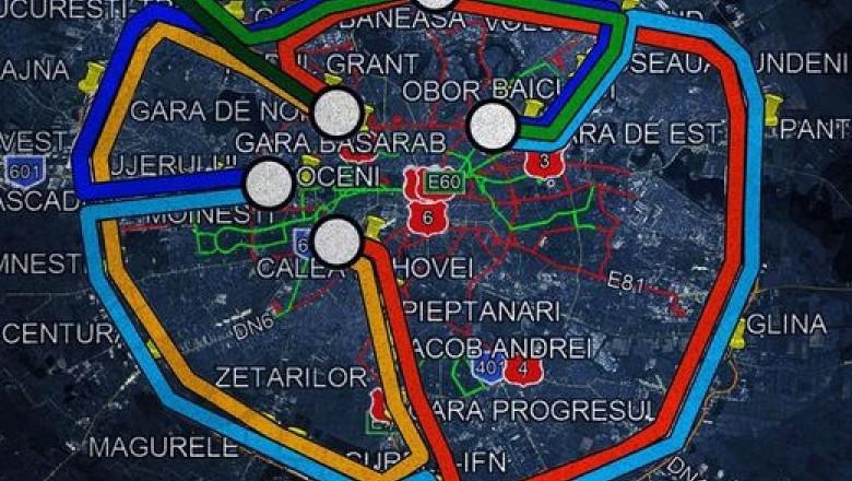 Liniile de cale ferată din jurul Bucureștiului. Proiectul trenului metropolitan