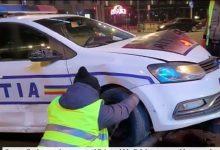 Photo of Accident în Piața Unirii din București. O mașină de Poliție a fost proiectată într-un panou publicitar