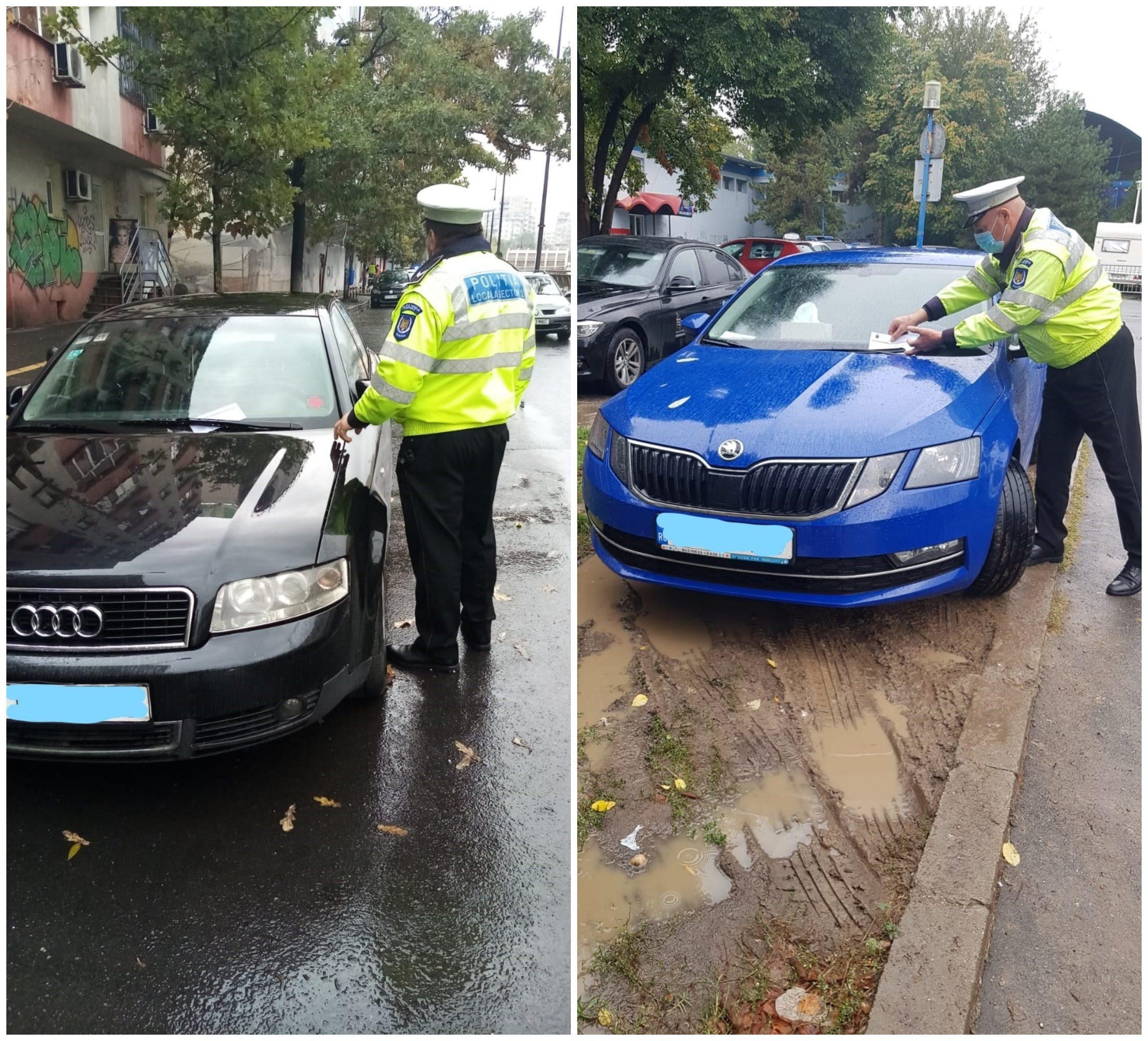 Amenzi în Sectorul 2. Șoferii au fost sancționați pentru parcare neregulamentară