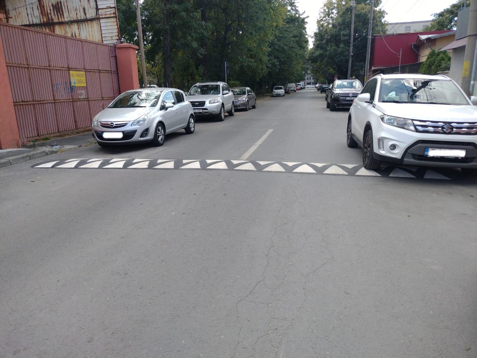 Un sector din București a început să monteze limitatoare de viteză din asfalt pe străzile secundare. Mai ieftine și mai durabile decât cele de cauciuc